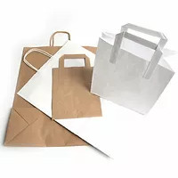 Brown Carrier Bag – Tape Handle