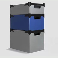 Polypropylene Stacking Boxes – Front Panel Labels